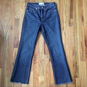 Everlane Kick Crops High Rise Jeans 26 Dark Wash